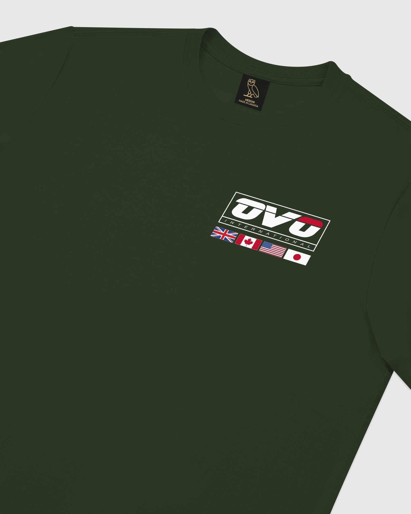INTERNATIONAL LONGSLEEVE T-SHIRT - FOREST GREEN IMAGE #4