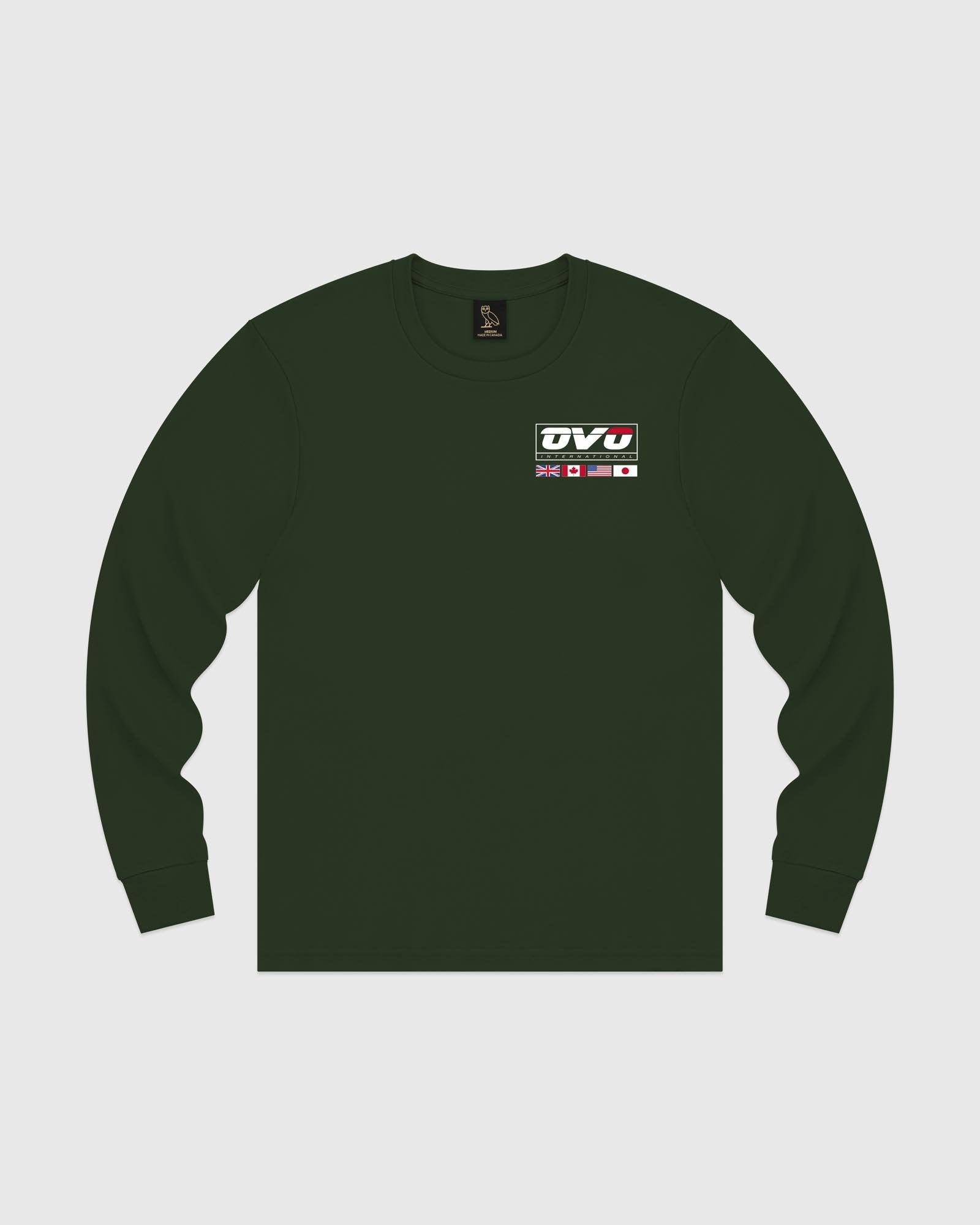INTERNATIONAL LONGSLEEVE T-SHIRT - FOREST GREEN IMAGE #1