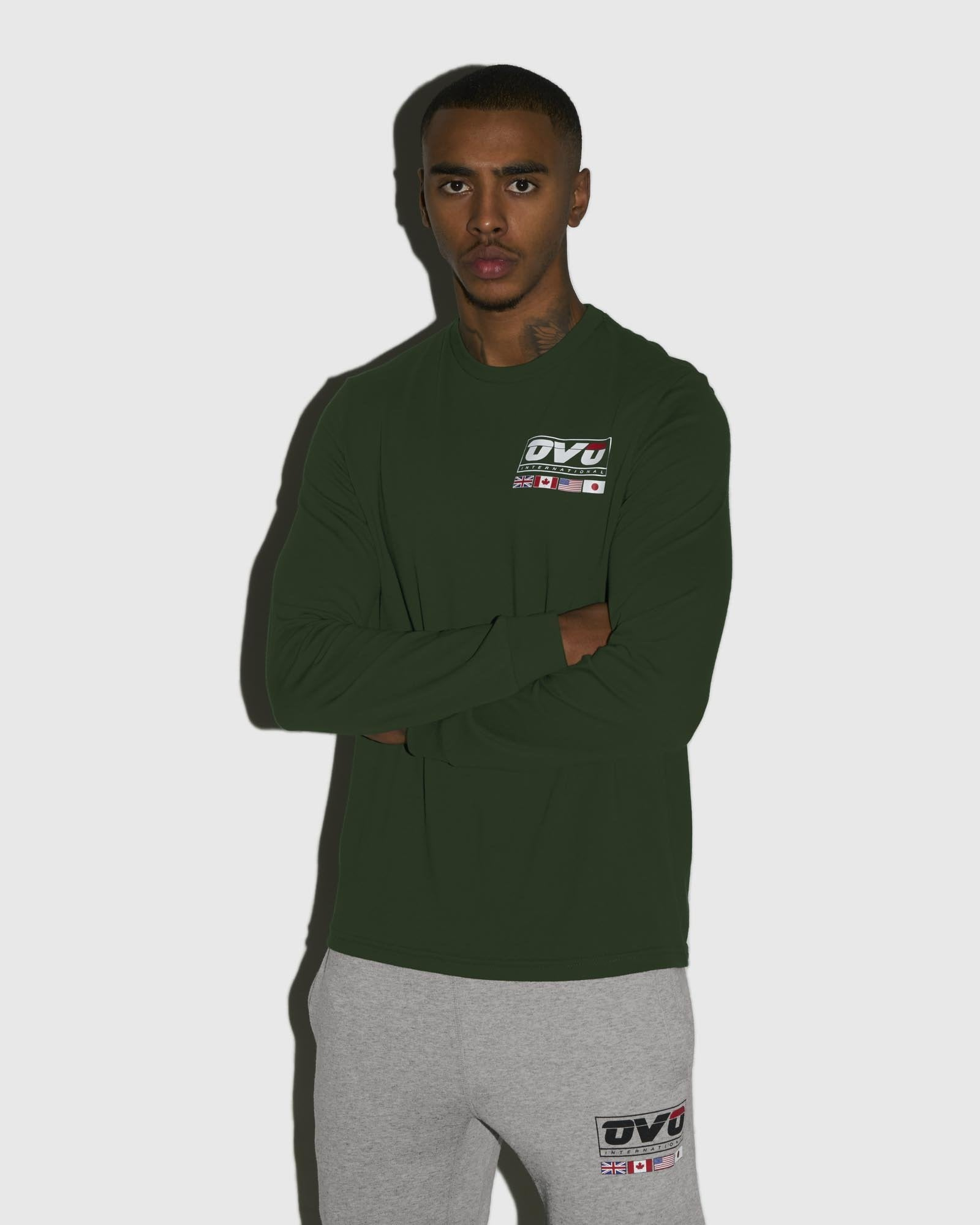INTERNATIONAL LONGSLEEVE T-SHIRT - FOREST GREEN IMAGE #2