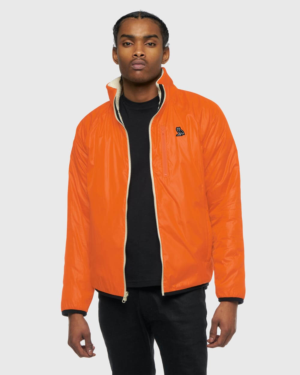 OVO REVERSIBLE POLARTEC® JACKET - CREAM/ORANGE