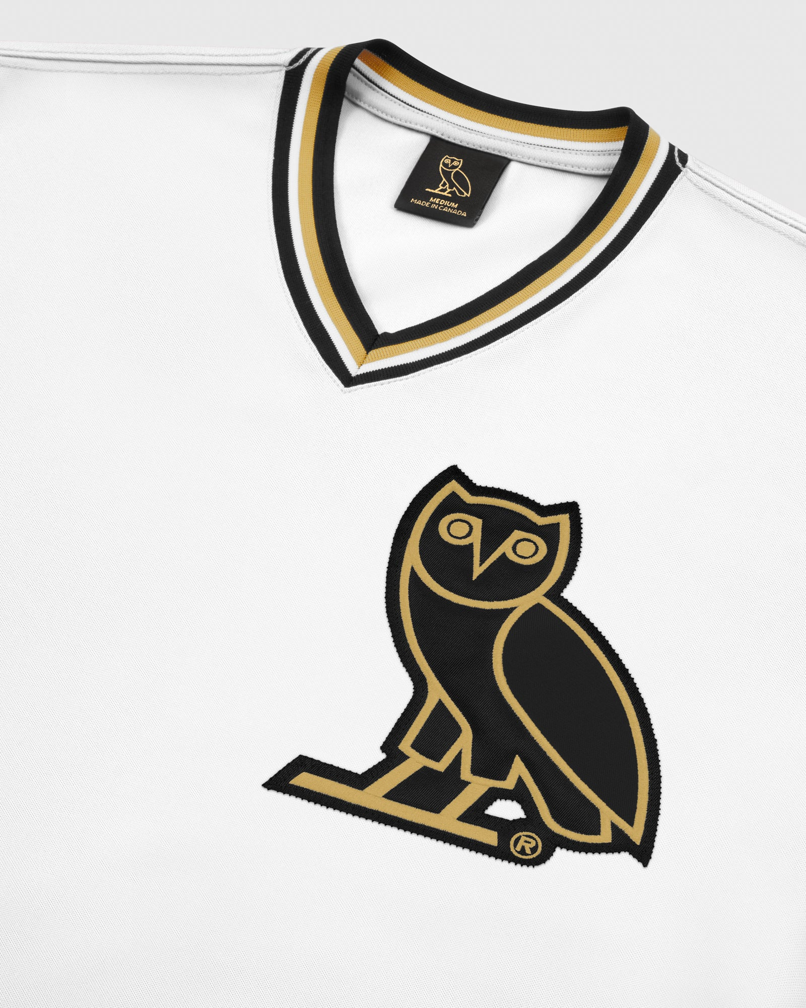 OVO V-NECK BASEBALL JERSEY - WHITE