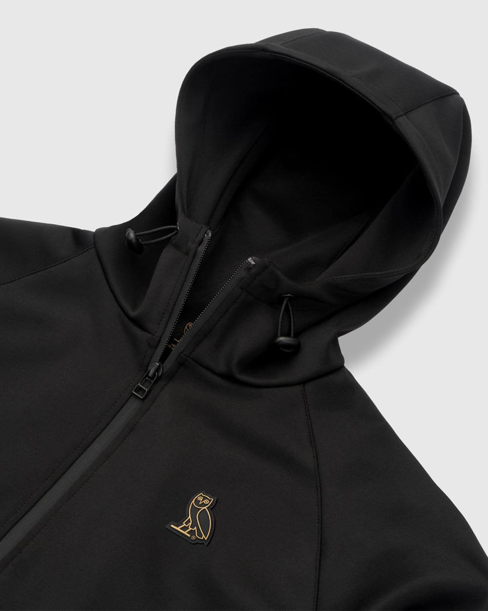 OVO ESSENTIALS INTERLOCK ZIP HOODIE - BLACK IMAGE #4
