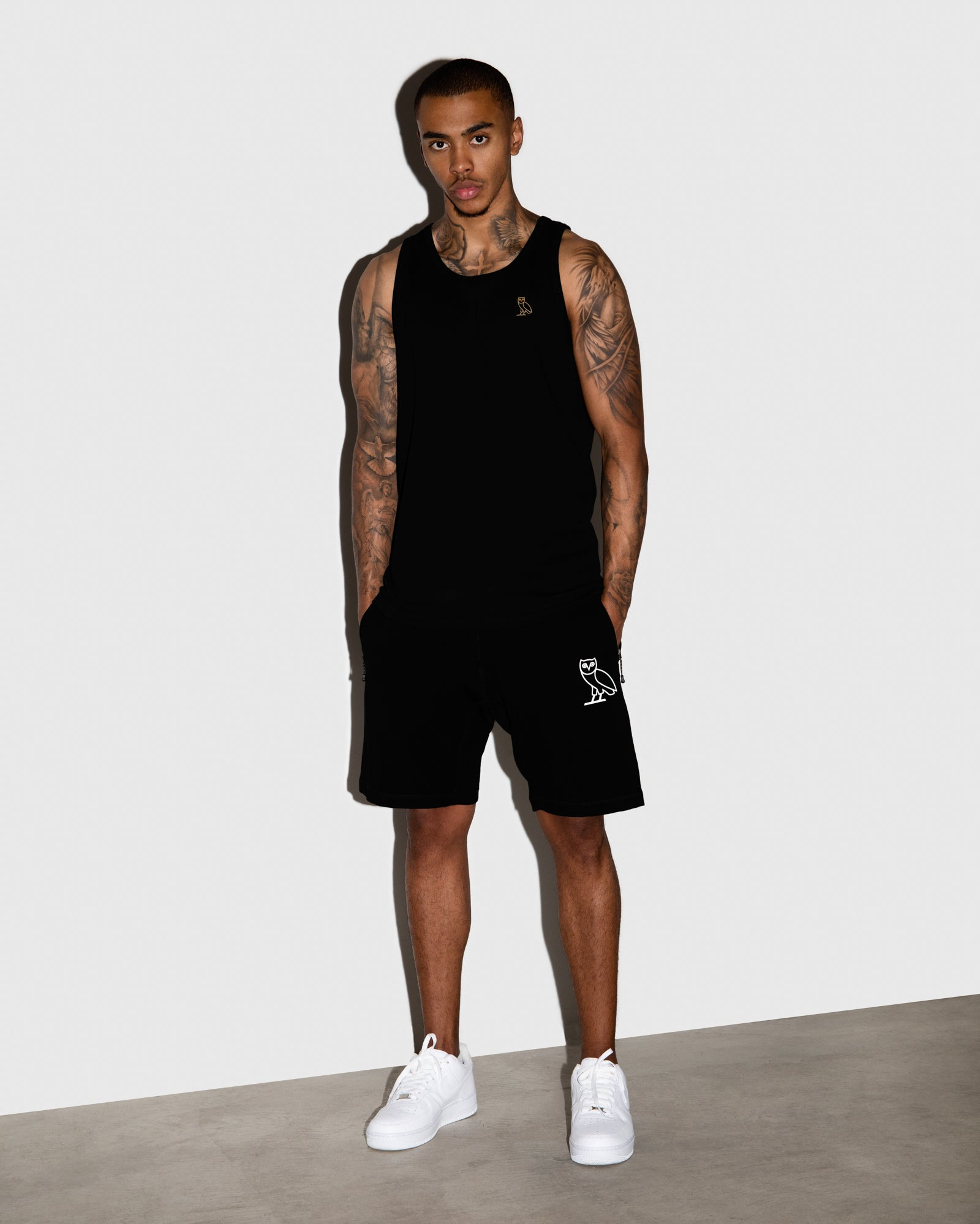 OVO LIGHTWEIGHT FRENCH TERRY SHORT - BLACK IMAGE #2