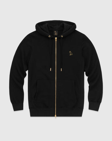 OVO ESSENTIALS ZIP HOODIE - BLACK