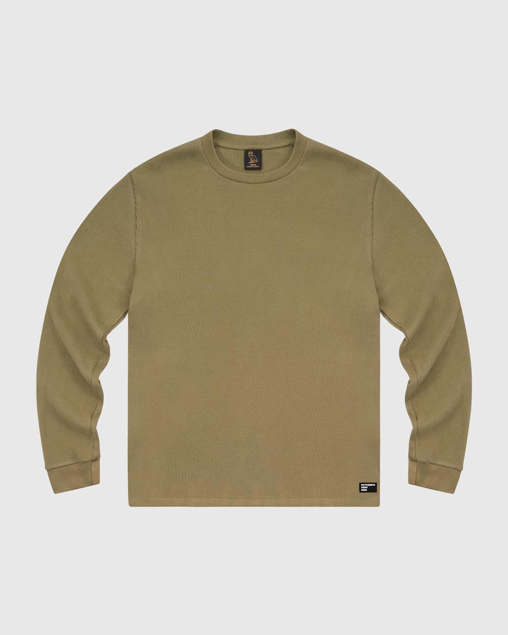 OVO THERMAL KNIT LONGSLEEVE - ALPHA GREEN IMAGE #1
