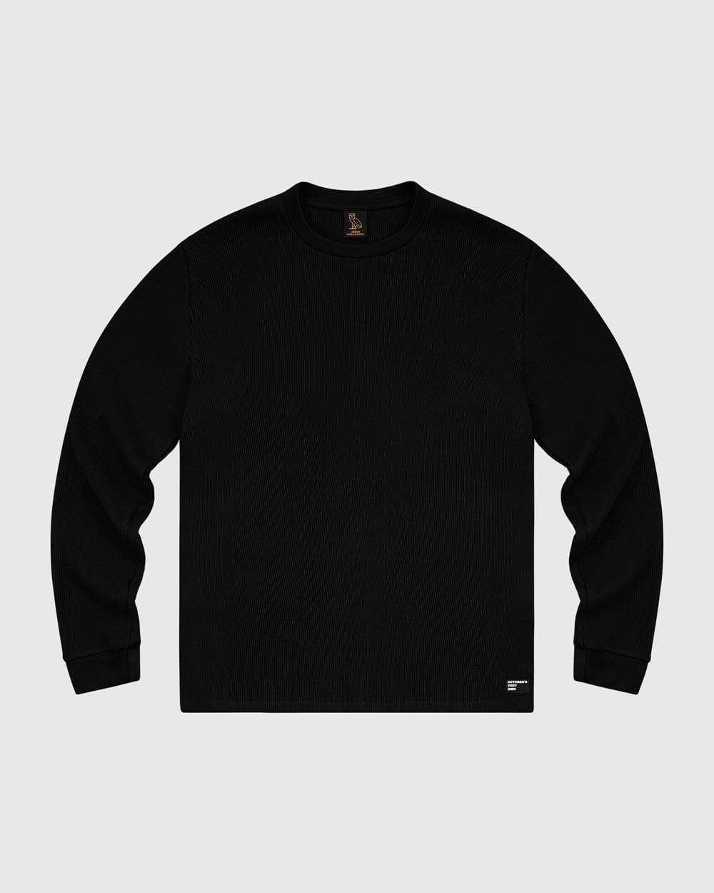 OVO THERMAL KNIT LONGSLEEVE - BLACK IMAGE #1