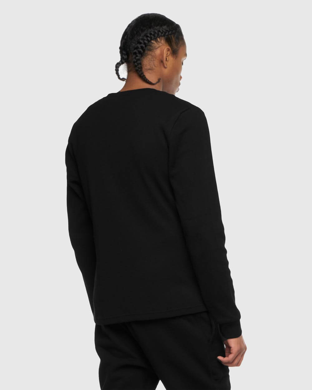 OVO THERMAL KNIT LONGSLEEVE - BLACK IMAGE #3