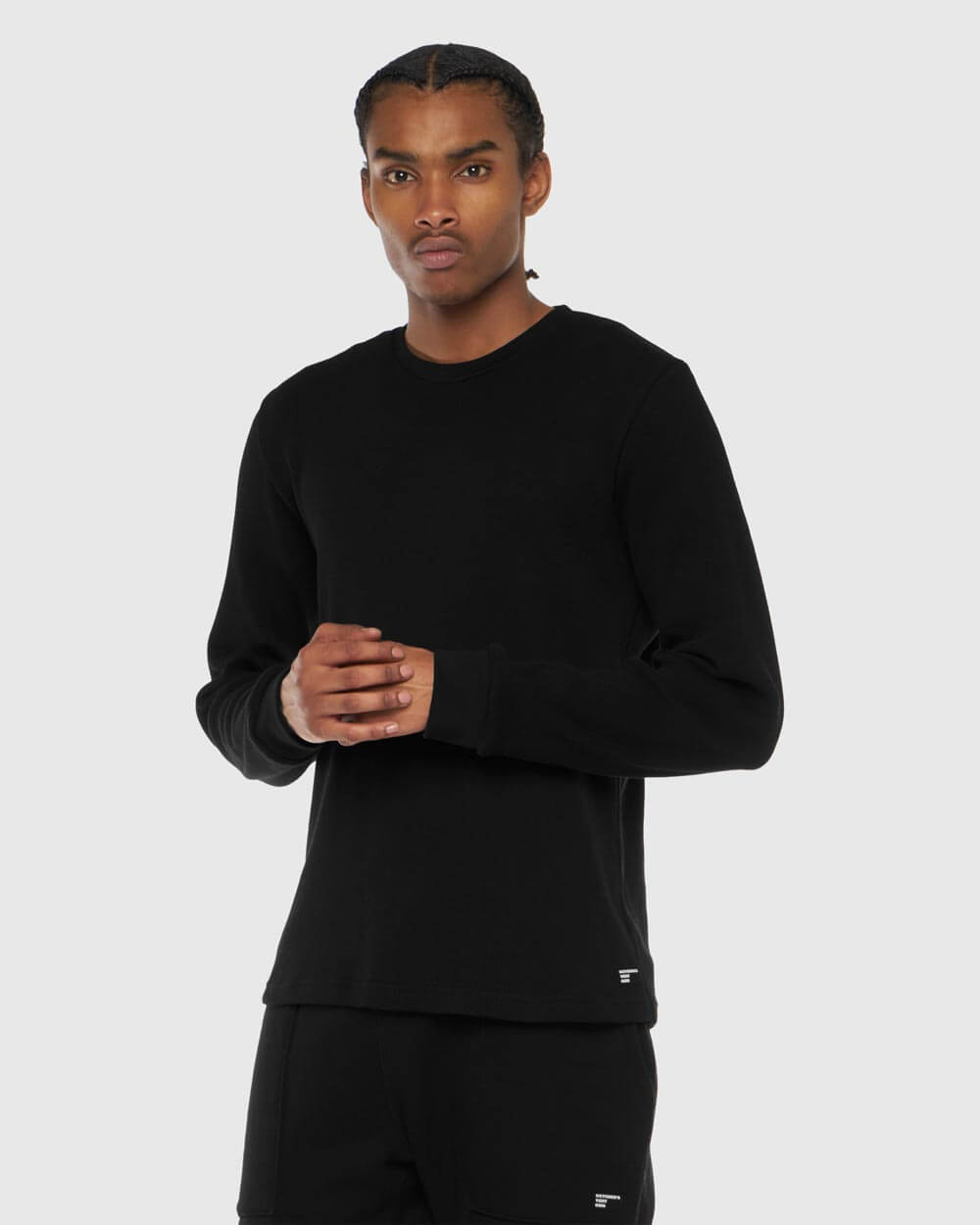 OVO THERMAL KNIT LONGSLEEVE - BLACK IMAGE #2