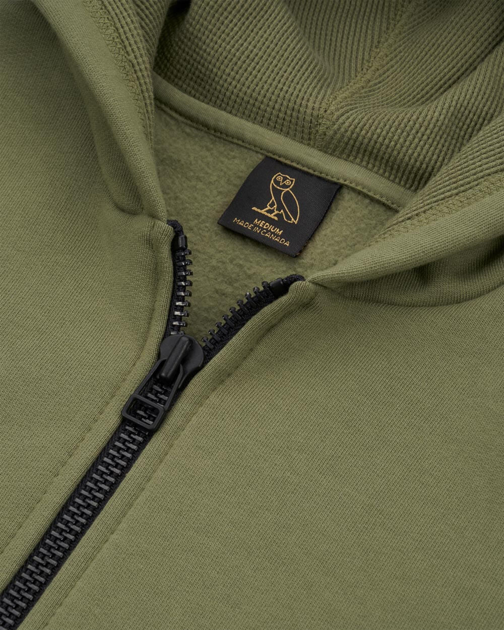 OVO THERMAL ZIP HOODIE - ALPHA GREEN