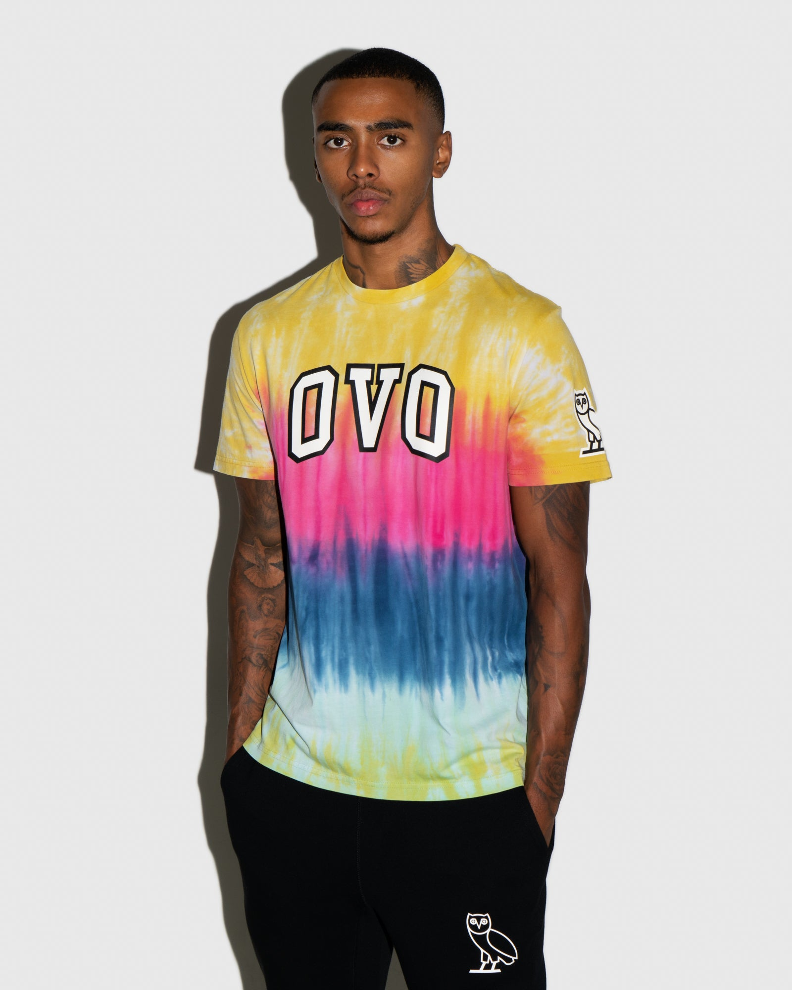 TIE DYE ARCH T-SHIRT - MULTI COLOUR IMAGE #2