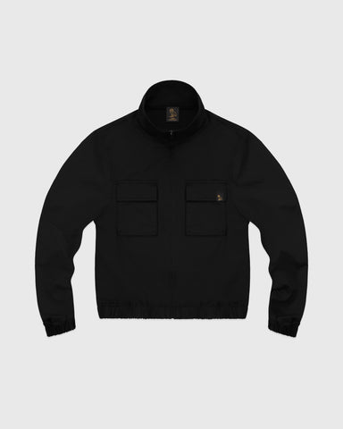 WOMEN'S OVO NYLON JACKET - BLACK