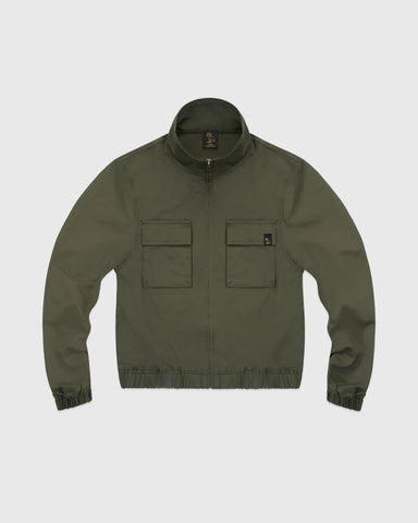 WOMEN'S OVO NYLON JACKET - STONE GREEN
