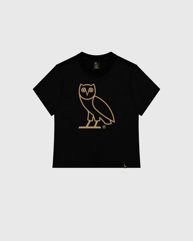 WOMEN'S OVO OWL T-SHIRT - BLACK