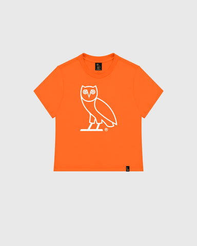 WOMEN'S OVO OWL T-SHIRT - ORANGE