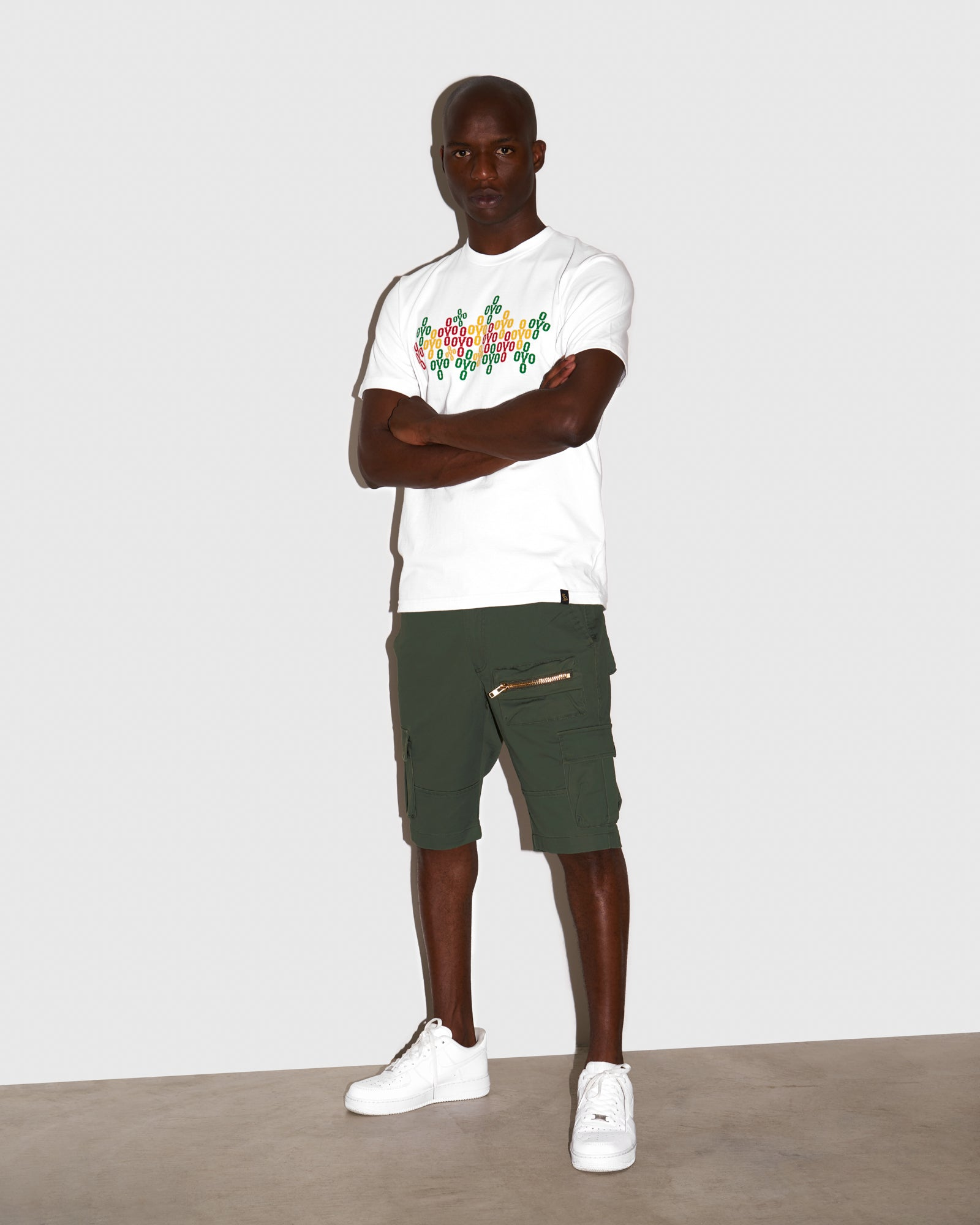 OVO UTILITY CARGO SHORTS - MILITARY GREEN