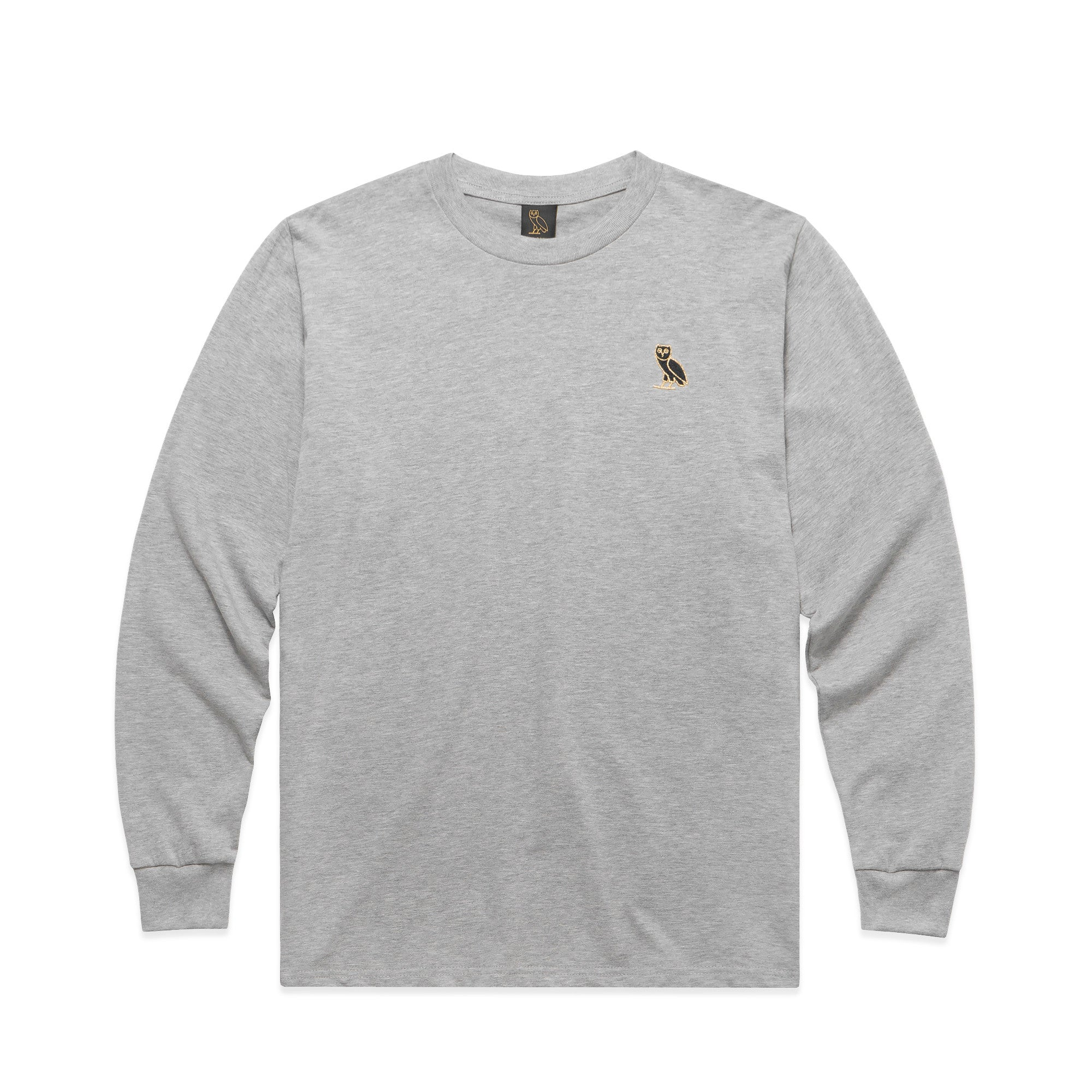 OWL LOGO EMBROIDERED LONGSLEEVE - GREY