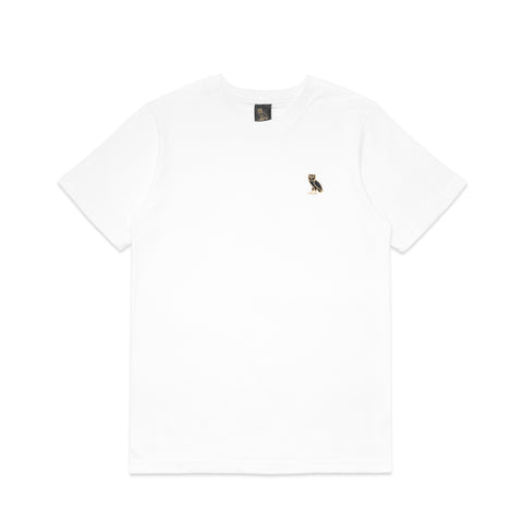 OWL LOGO EMBROIDERED T-SHIRT - WHITE