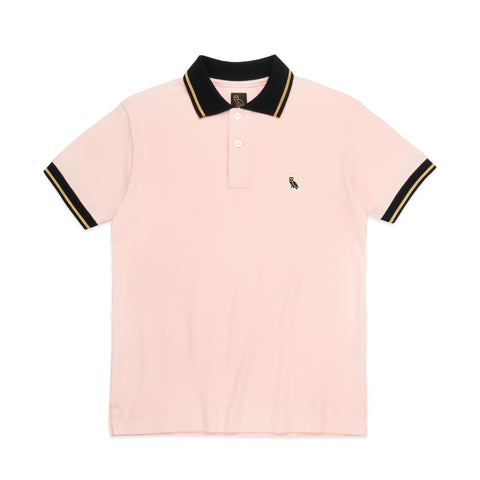OWL LOGO PATCH POLO - PINK