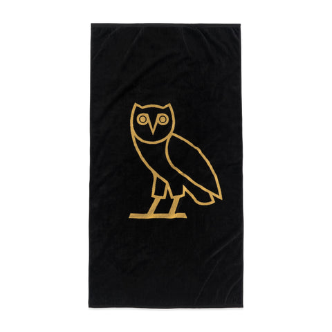 OWL LOGO TOWEL - BLACK