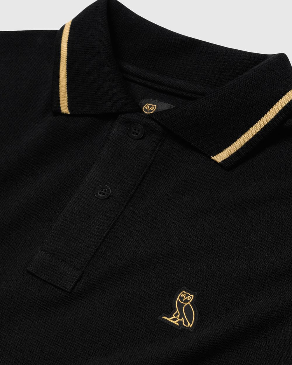 OVO ESSENTIALS POLO - BLACK IMAGE #4