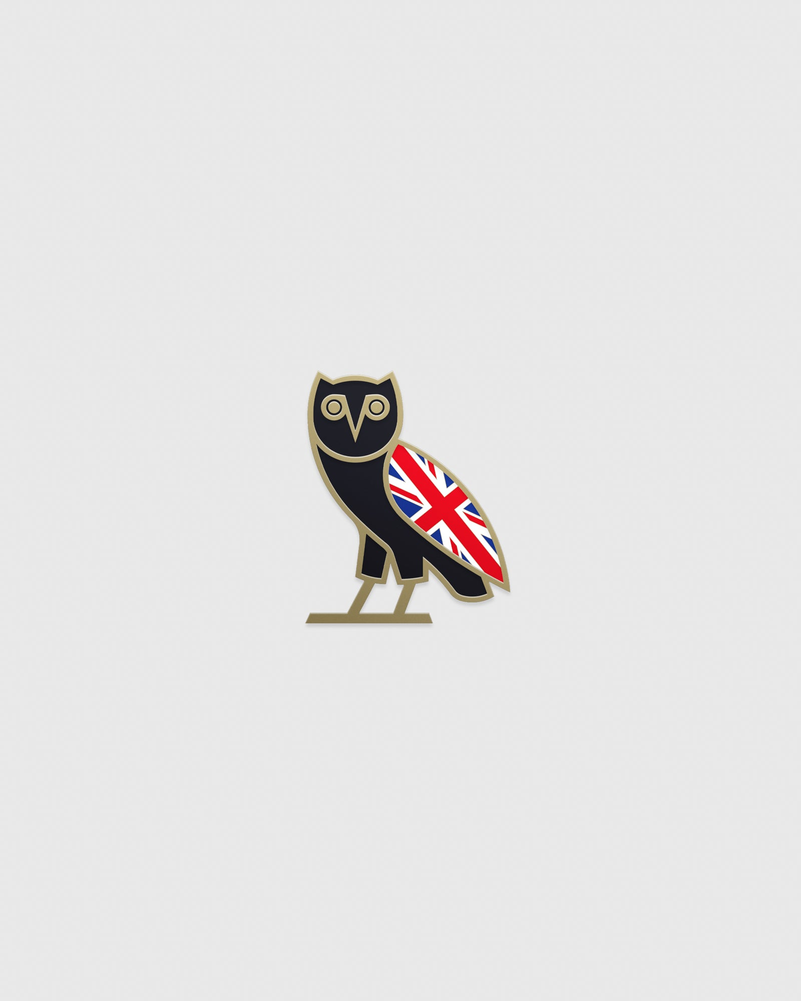 UNION JACK OG OWL PIN