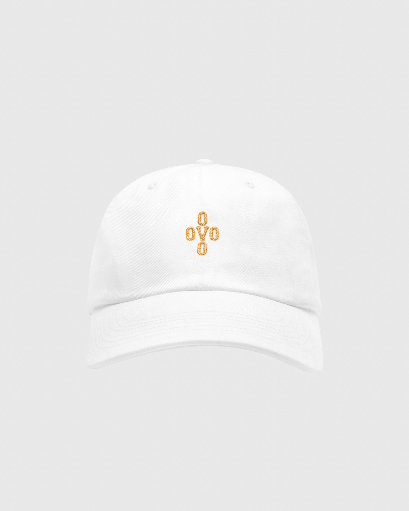 POM POM COTTON TWILL CAP - WHITE