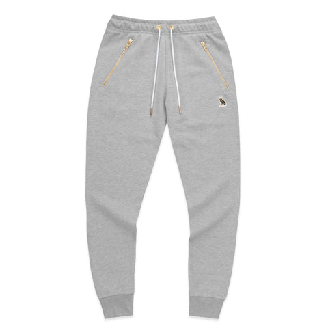 WOMEN'S OWL PATCH HIGH WAISTED SWEATPANT - GREY
