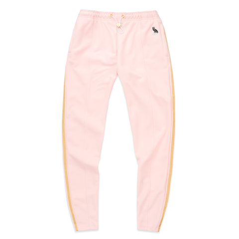 WOMEN'S OWL PATCH HIGH WAISTED TRACK PANT - PINK