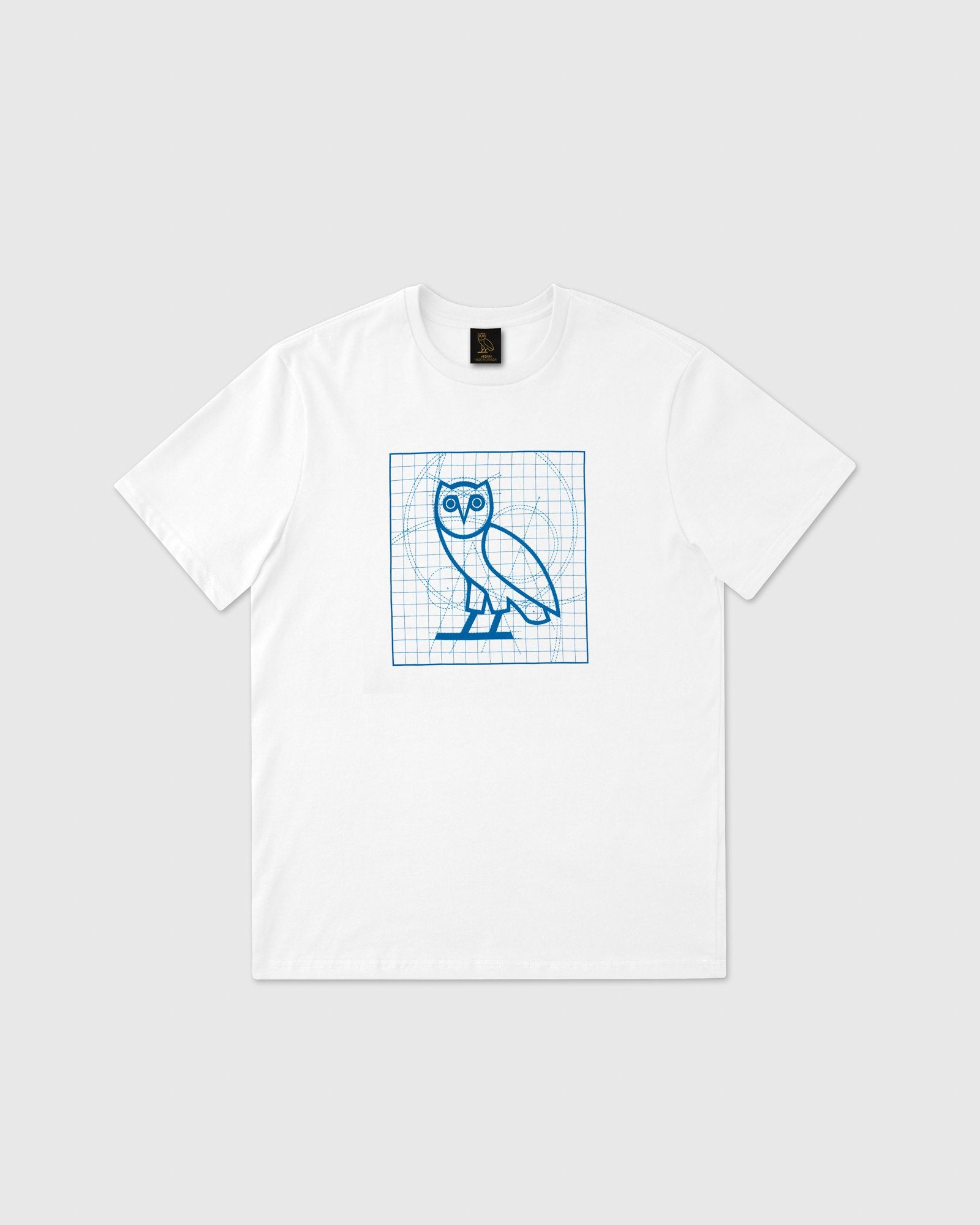 BLUEPRINT OWL T-SHIRT - WHITE IMAGE #1