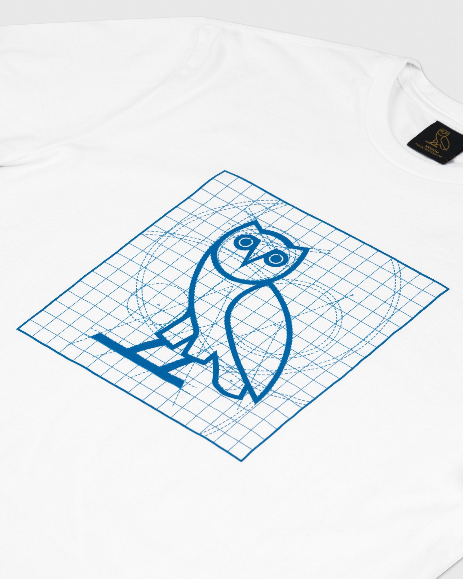 BLUEPRINT OWL T-SHIRT - WHITE IMAGE #2