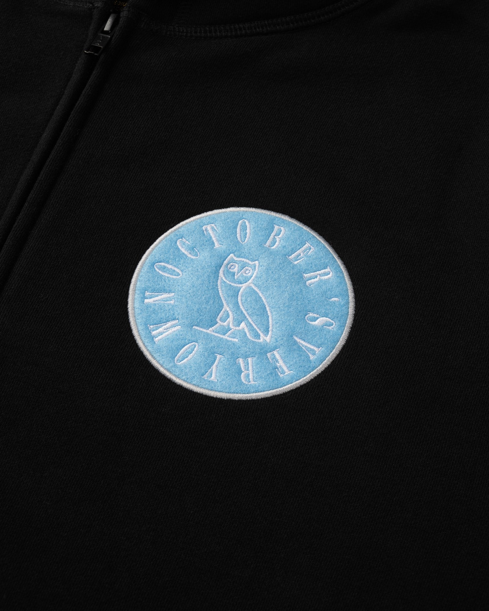 CIRCLE WORDMARK PATCH FULL-ZIP HOODIE - BLACK IMAGE #2