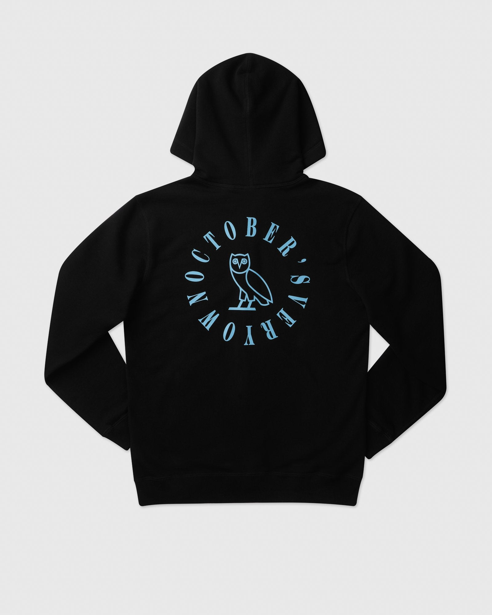 CIRCLE WORDMARK PATCH FULL-ZIP HOODIE - BLACK IMAGE #4