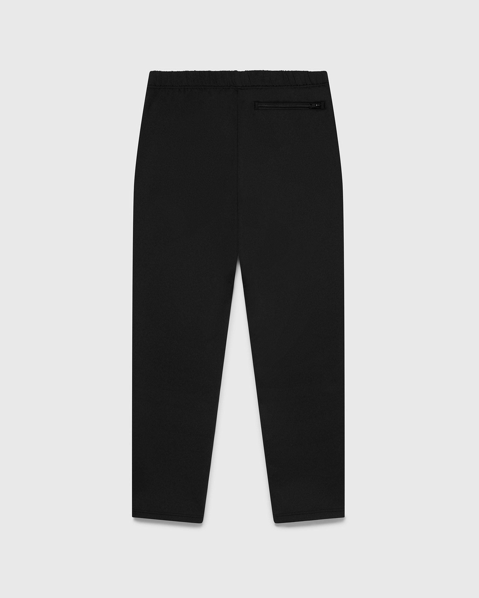 DOUBLE KNIT TRACK PANT - BLACK IMAGE #2