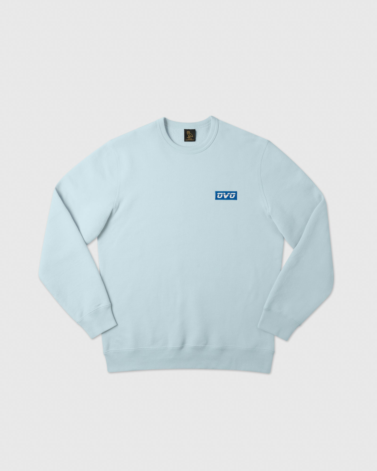 EMBROIDERED RUNNER LOGO CREWNECK - DUSTY BLUE IMAGE #1
