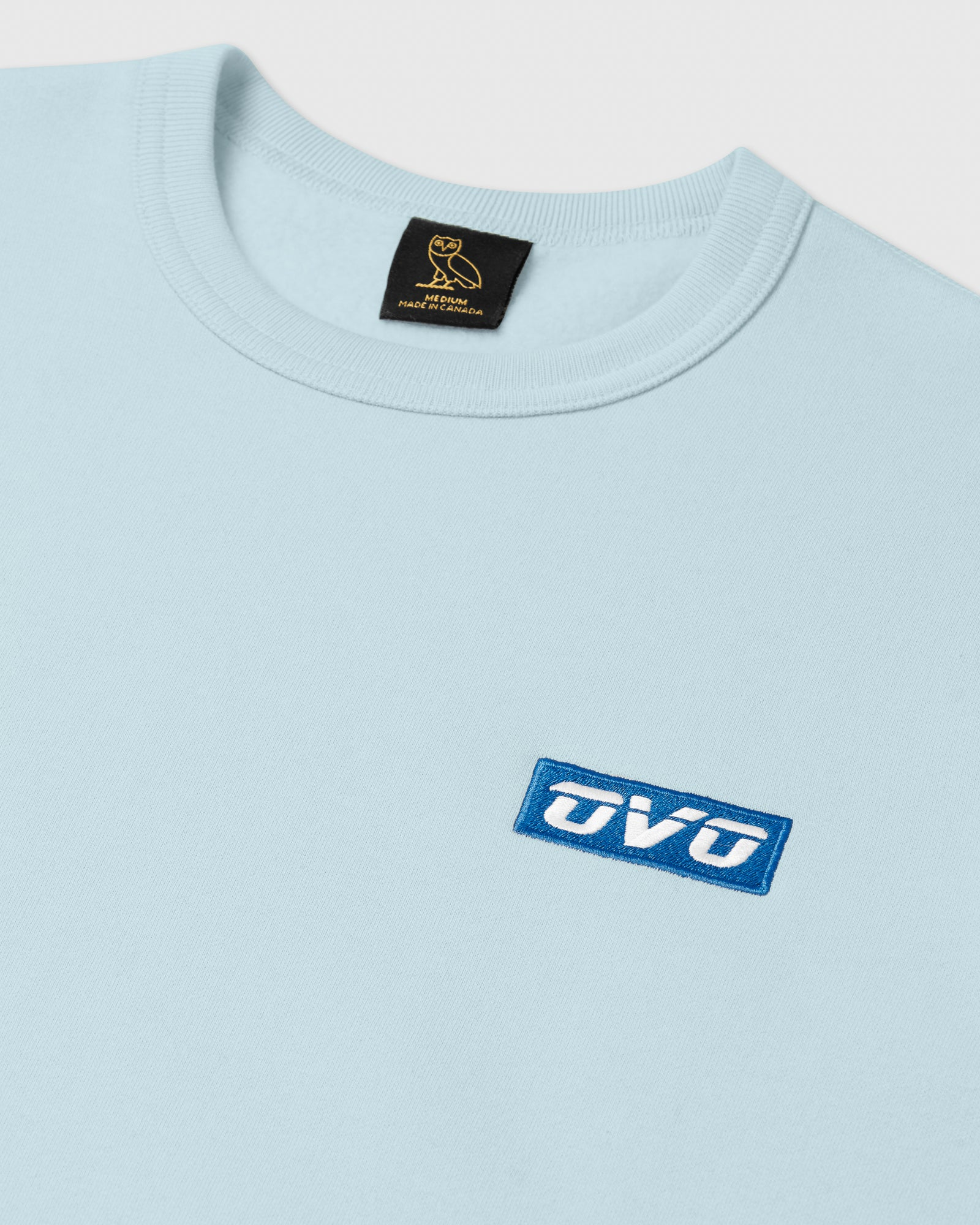EMBROIDERED RUNNER LOGO CREWNECK - DUSTY BLUE IMAGE #3