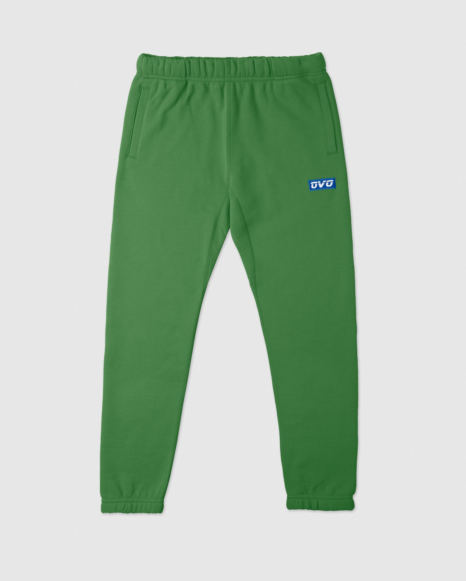 EMBROIDERED RUNNER LOGO SWEATPANT - FERN IMAGE #1