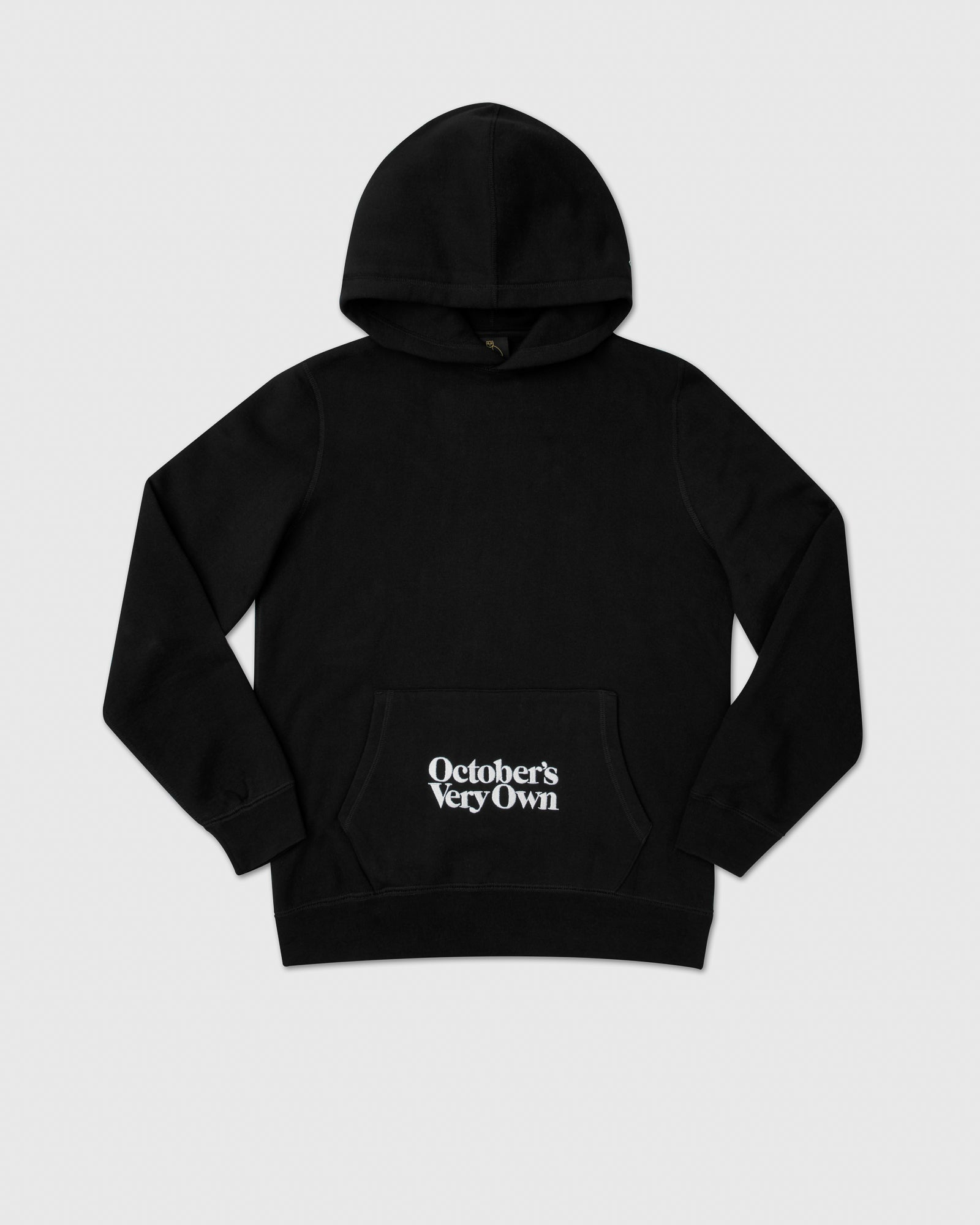 FAMILIA EMBROIDERED POCKET HOODIE - BLACK IMAGE #1
