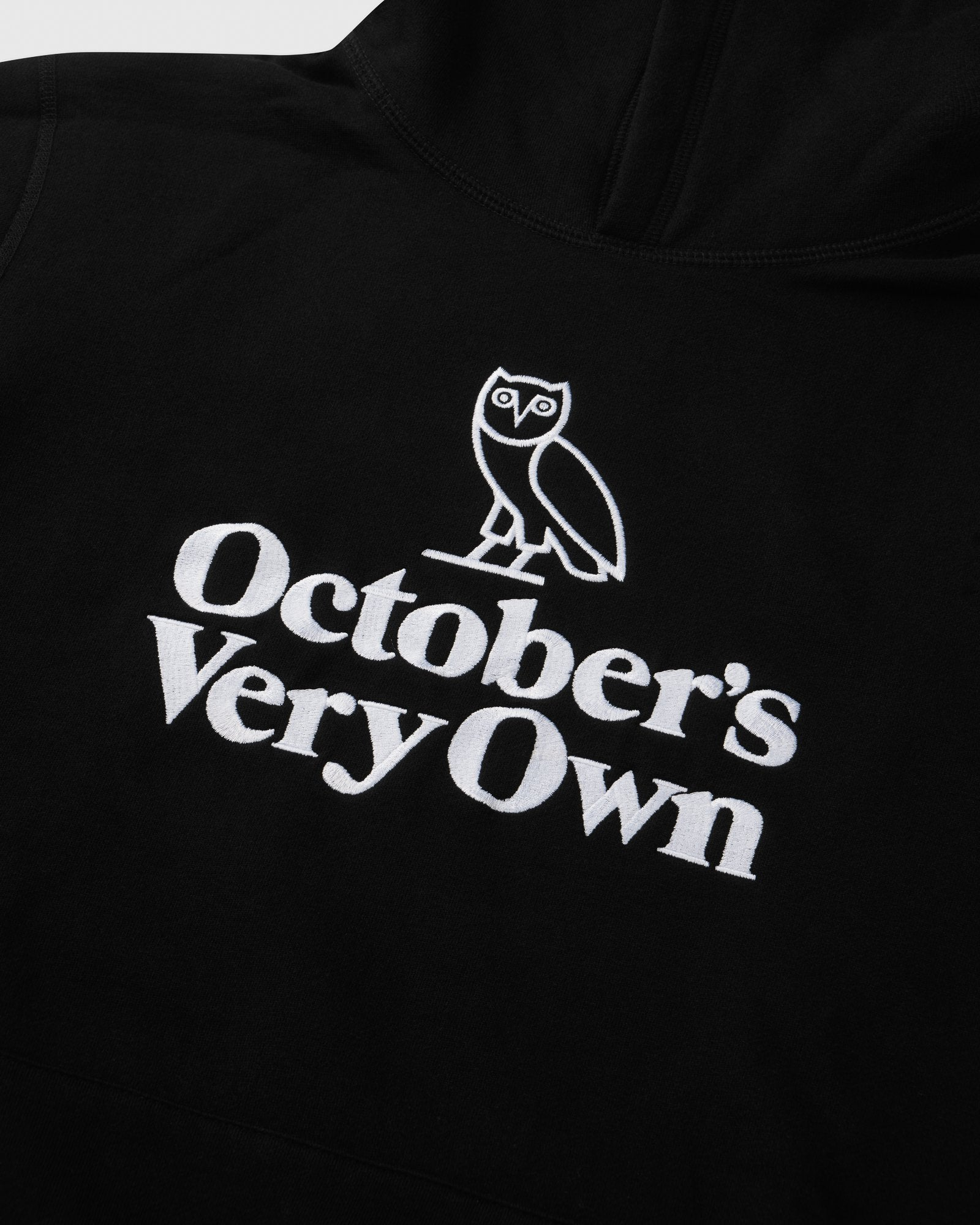 FAMILIA OWL EMBROIDERED HOODIE - BLACK IMAGE #2
