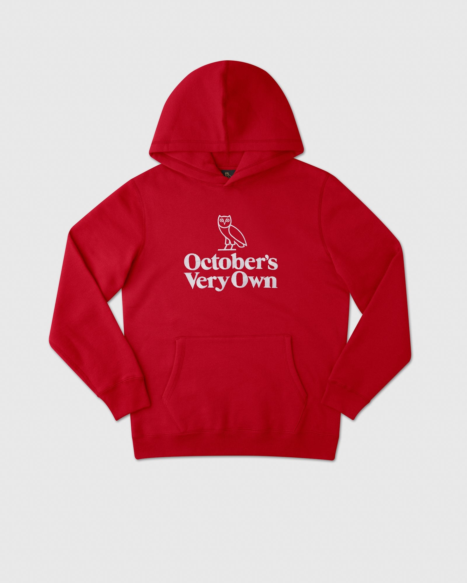 FAMILIA OWL EMBROIDERED HOODIE - RED IMAGE #1
