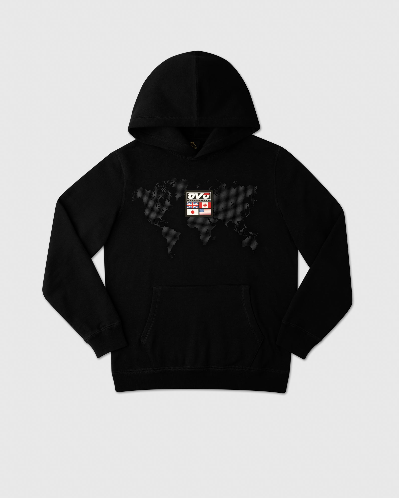 OVO INTERNATIONAL GRID HOODIE - BLACK IMAGE #1