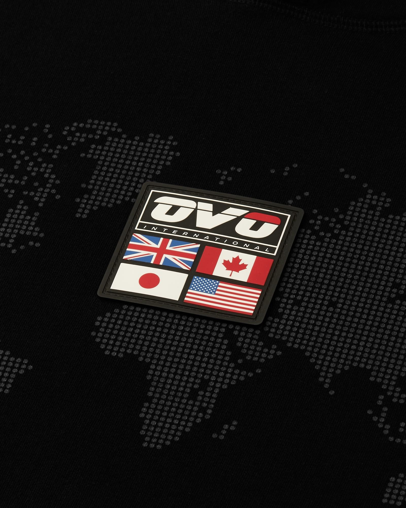 OVO INTERNATIONAL GRID HOODIE - BLACK IMAGE #2