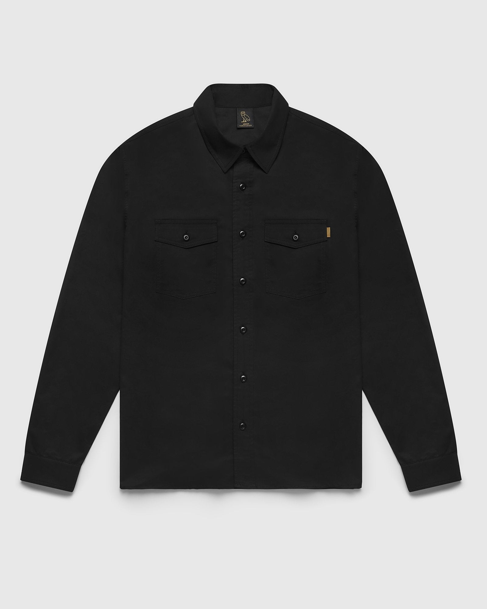 MILITARY FIELD SHIRT - BLACK IMAGE #2