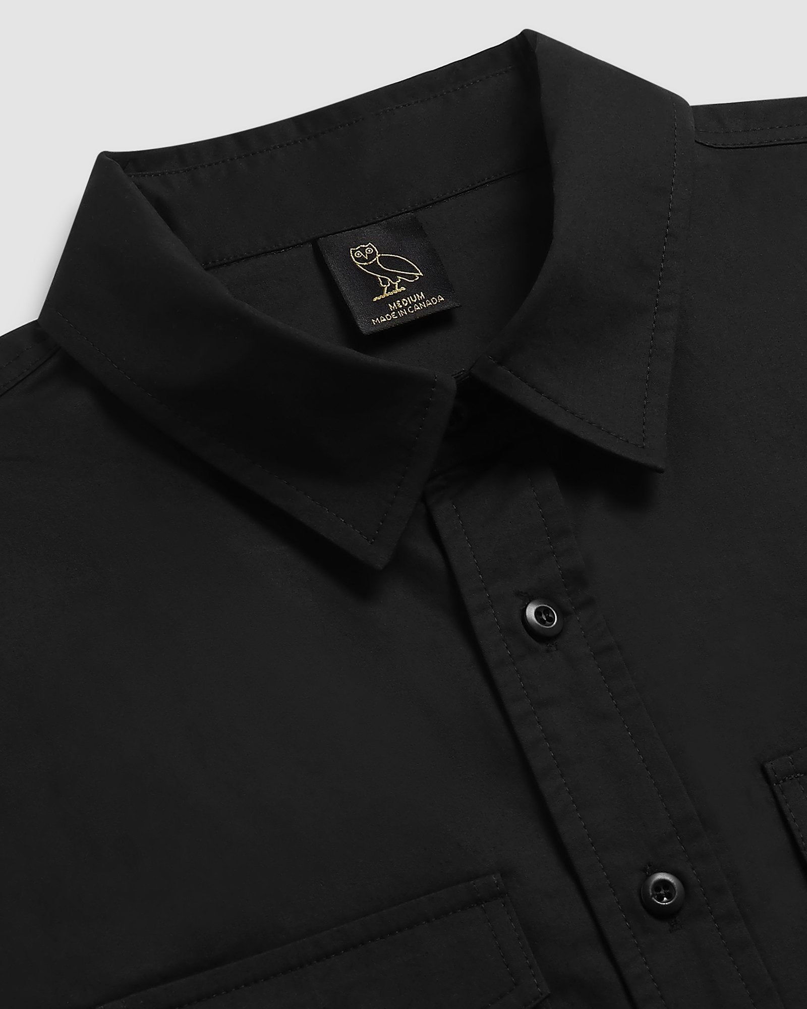 MILITARY FIELD SHIRT - BLACK IMAGE #3