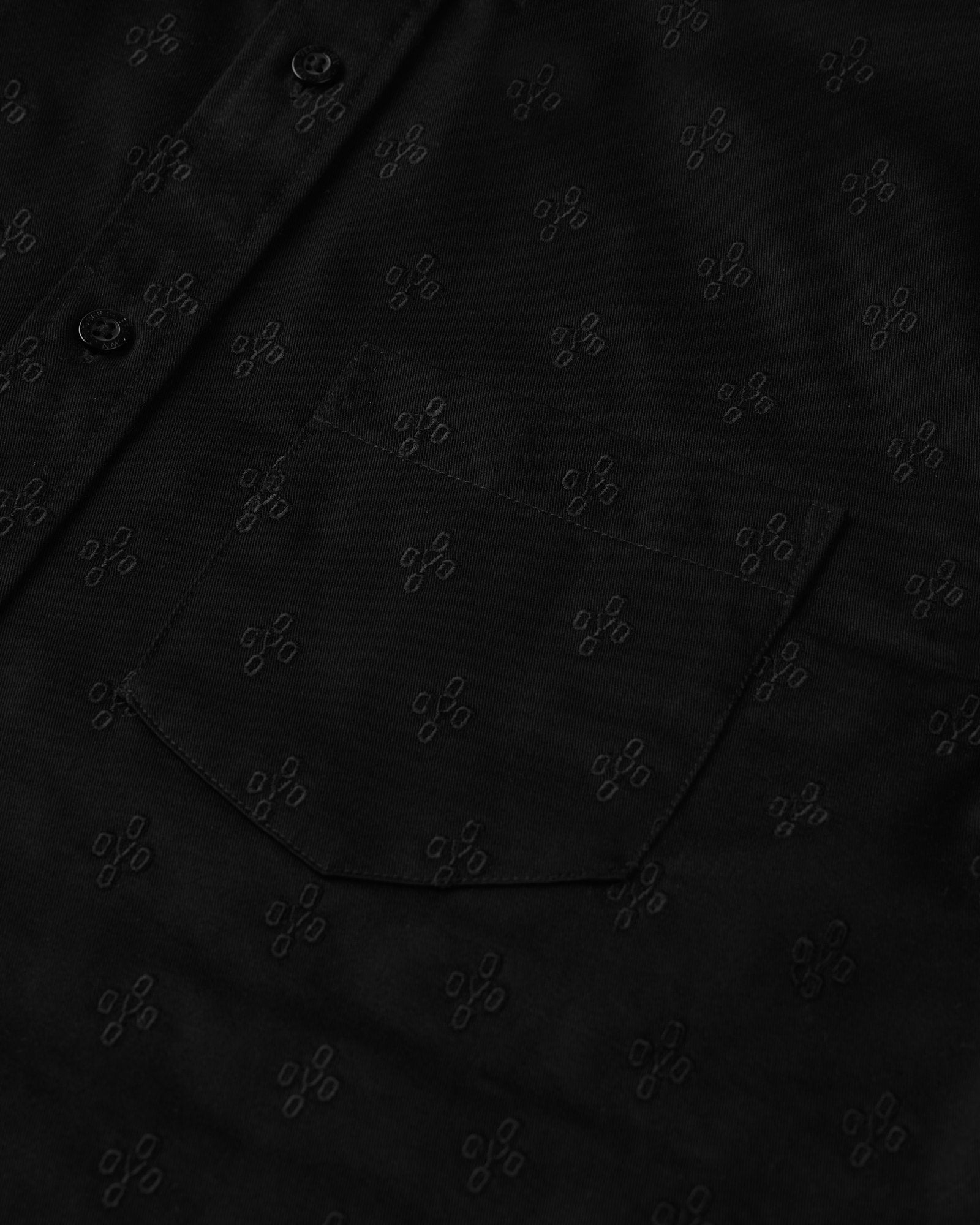 MONOGRAM EMBROIDERED BUTTON DOWN SHIRT - BLACK IMAGE #2
