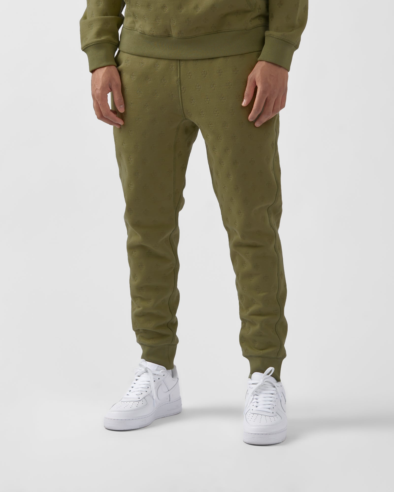 MONOGRAM EMBROIDERED SWEATPANT - OLIVE IMAGE #3