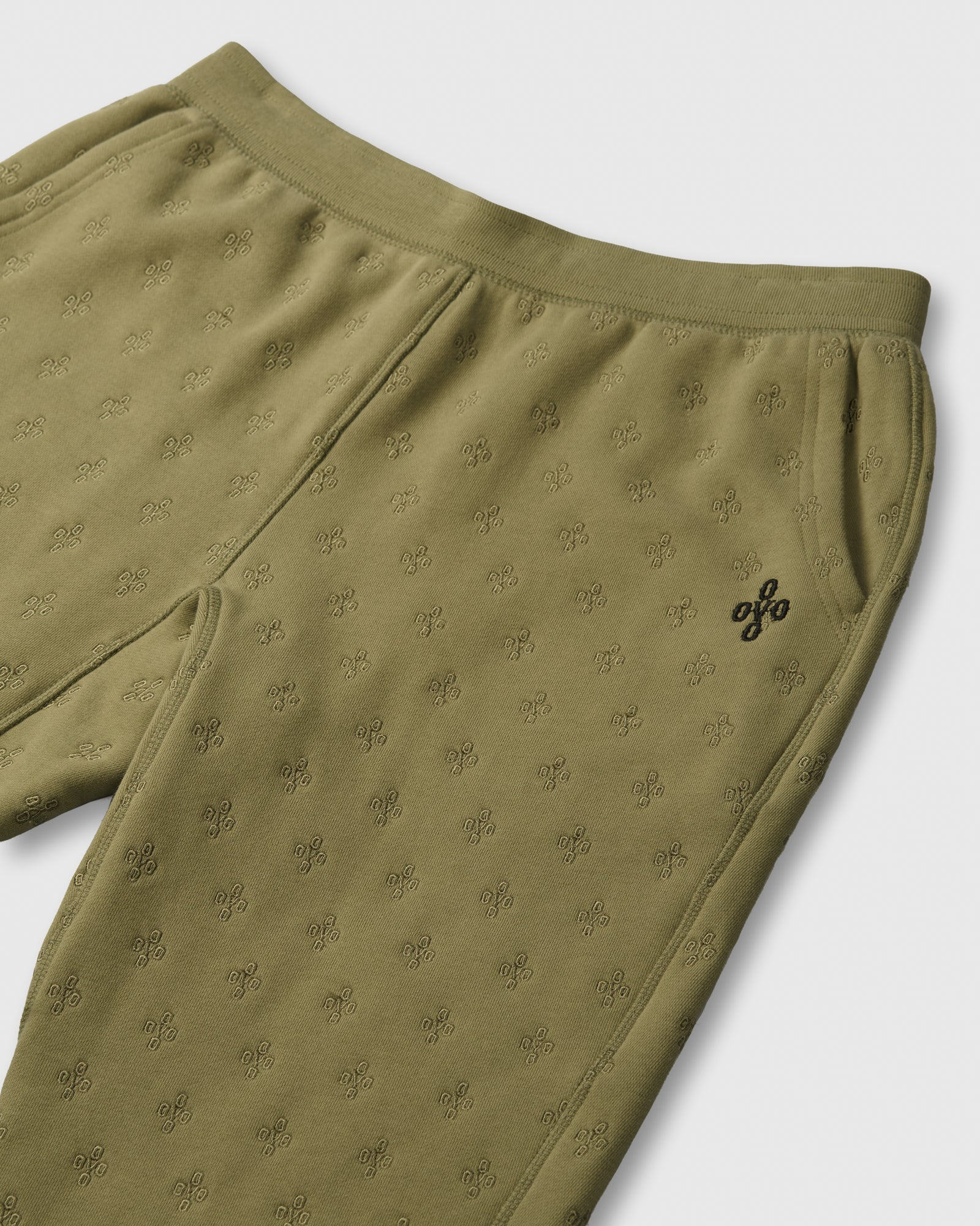 MONOGRAM EMBROIDERED SWEATPANT - OLIVE IMAGE #2