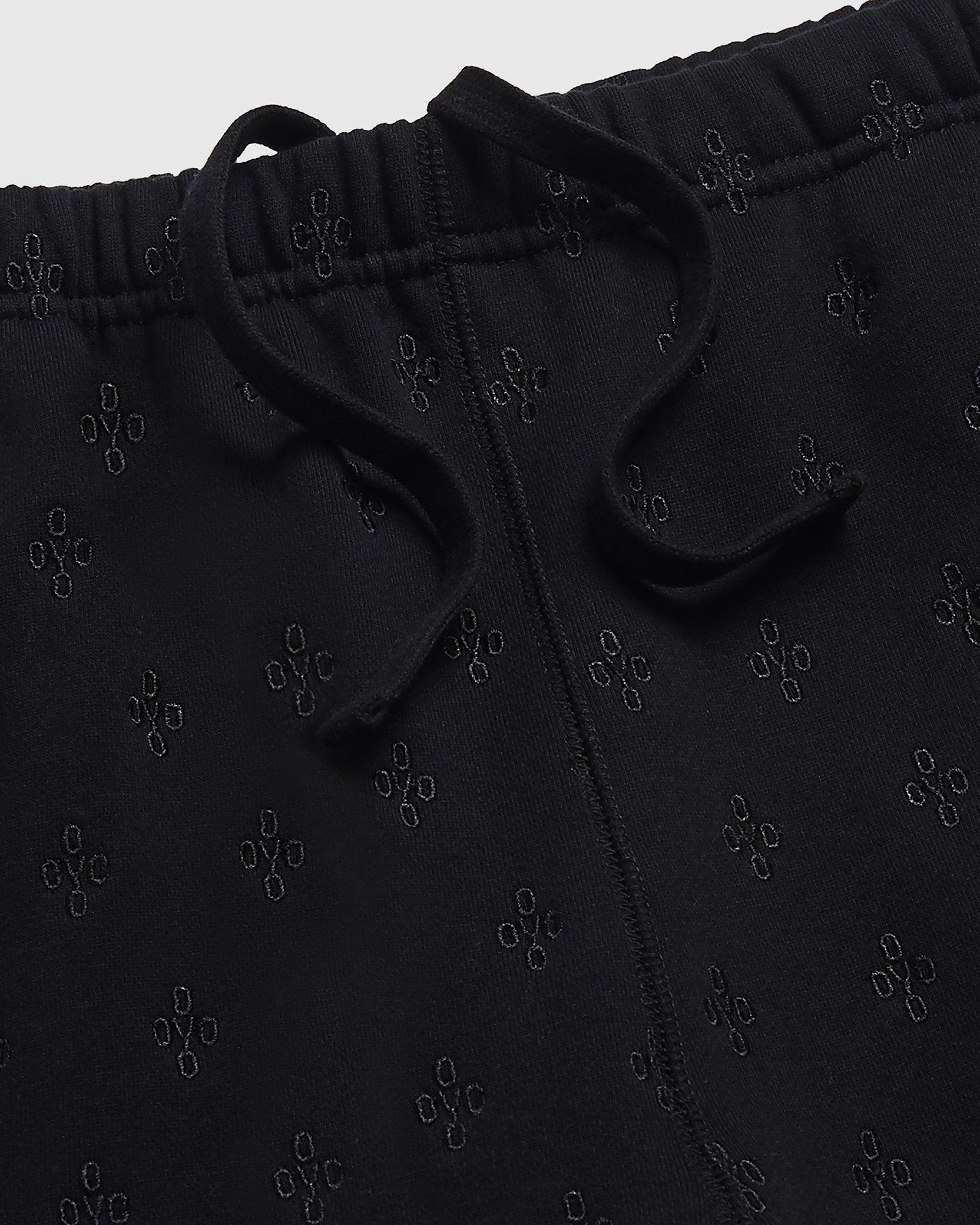 MONOGRAM SWEATPANT - BLACK IMAGE #3