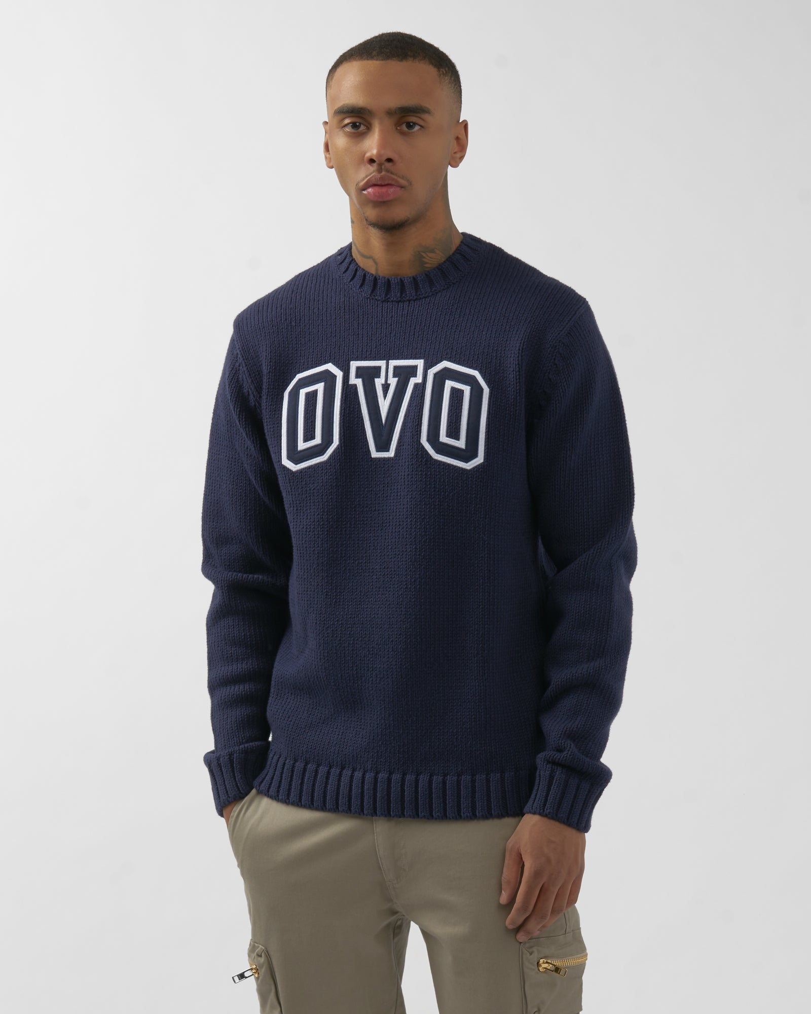 OVO ARCH SWEATER - NAVY IMAGE #3