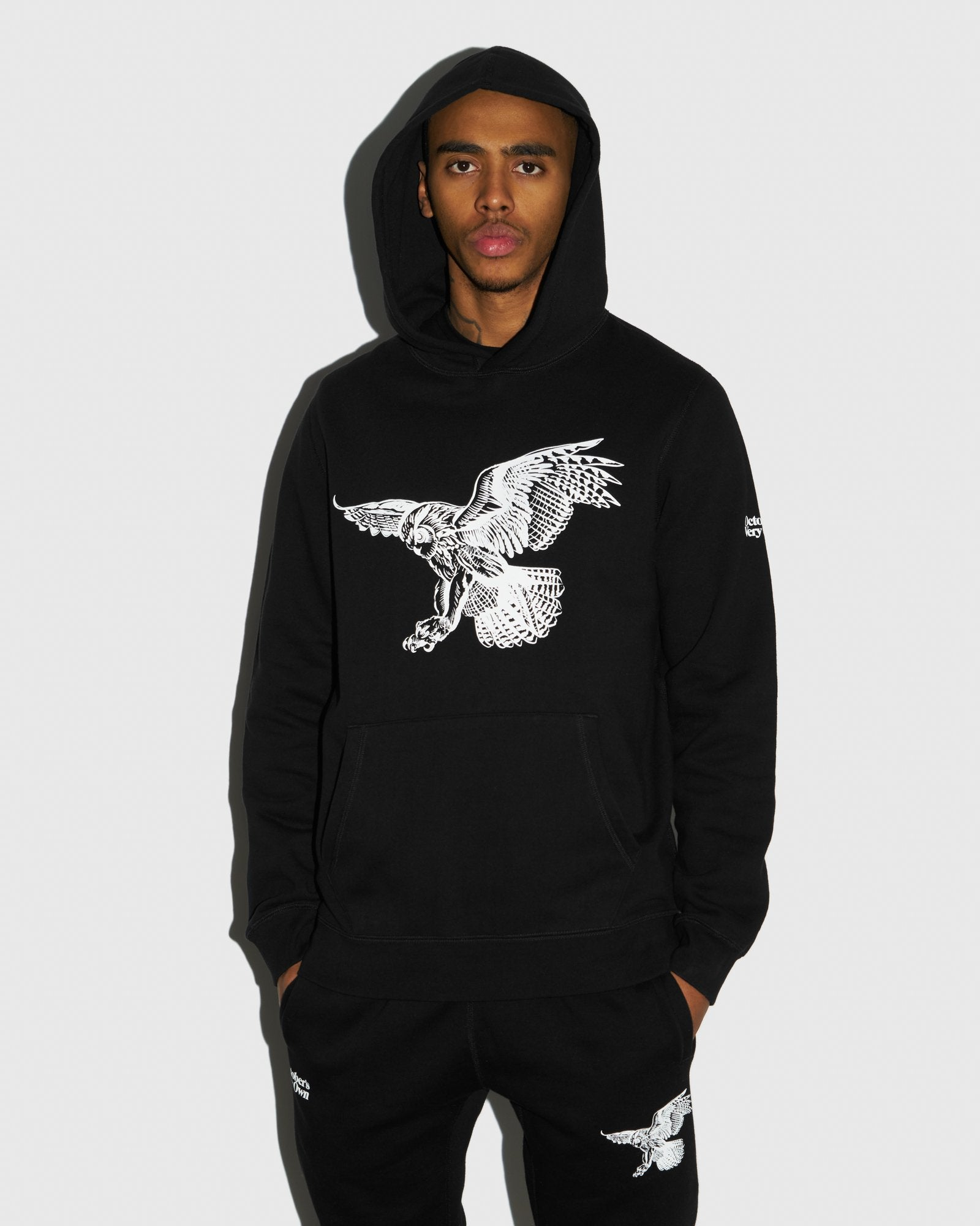 BIRD OF PREY HOODIE - BLACK IMAGE #2