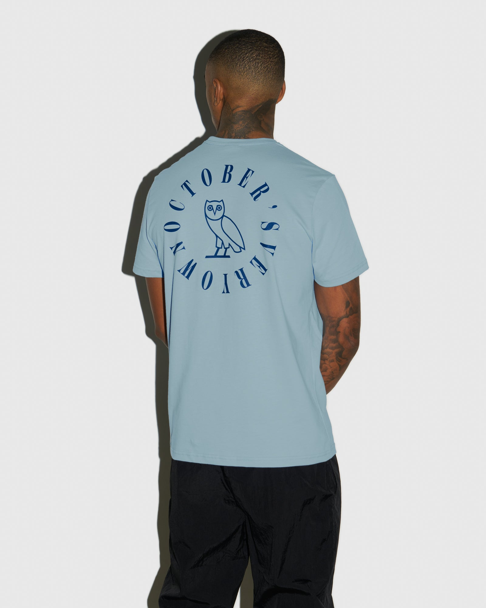 CIRCLE WORDMARK T-SHIRT - SKY BLUE IMAGE #3